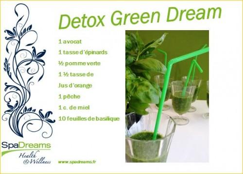recette smoothie detox SpaDreams France