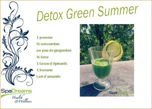 recette smoothie detox SpaDreams Pays Bas