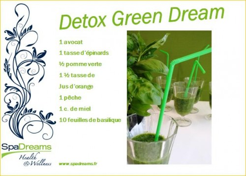 recette smoothie detox SpaDreams France